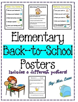 Elementary Back-to-School Posters