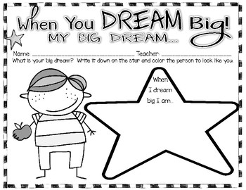 When You Dream Big Activity Pack