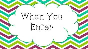 When You Enter