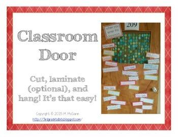 When You Enter... Classroom Door Decoration