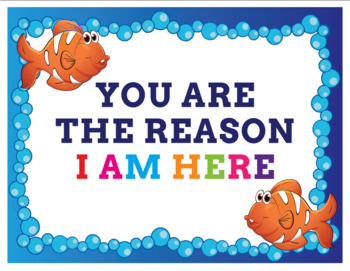 When You Enter My Classroom Decoration- Ocean Themed