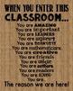 When You Enter This CLASSROOM Burlap Teacher Motivational Rules