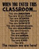 When You Enter This CLASSROOM Burlap Teacher Motivational Rules