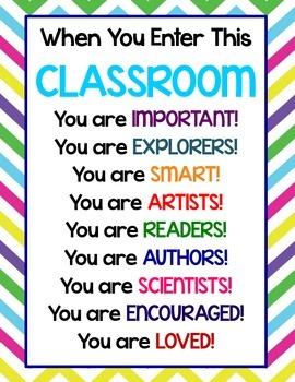 When You Enter This Classroom...