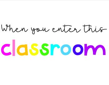 When You Enter This Classroom