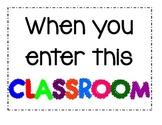 When You Enter This Classroom Bulletin
