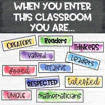 When You Enter This Classroom EDITABLE Bulletin Board Set