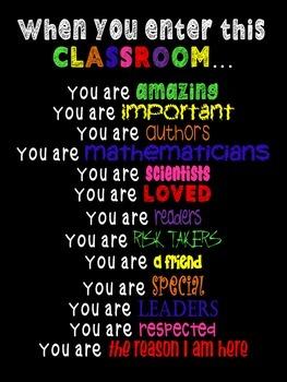 When You Enter This Classroom - Custom Version