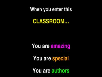 When You Enter This Classroom (Editable) Sign