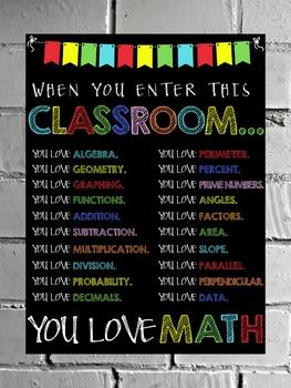 When You Enter This Classroom - Math Poster
