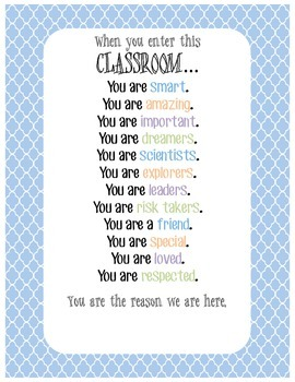 """When You Enter This Classroom..."" Poster"