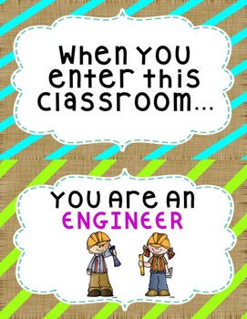 When You Enter This Classroom Poster Burlap