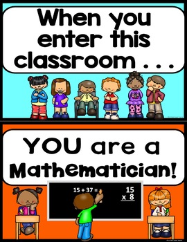 Posters: When You Enter This Classroom - Posters for Character Education