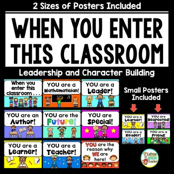 when you enter this classroom character education posters tpt