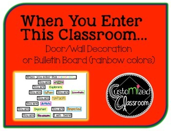 When You Enter This Classroom - Rainbow Colors