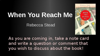 When You Reach Me Bookclub Discussion By Literature Writing Book