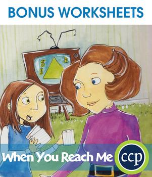 When You Reach Me - Literature Kit Gr. 5-6 - BONUS WORKSHEETS