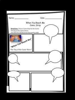 When You Reach Me- Make a Comic Strip!