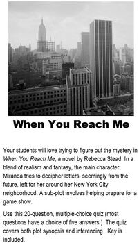 When You Reach Me - Novel Test