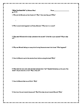"""""""When You Reach Me"""", by R. Stead, Comprehension Questions"""