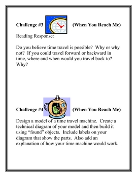 """When You Reach Me"", by R. Stead, Project Challenges"
