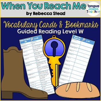 When You Reach Me by Rebecca Stead Vocabulary Bookmarks