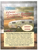 When Zachary Beaver Came to Town ELA Novel Literature Study Guide Teaching Unit