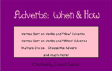 """Adverbs """"When"""" and """"How"""" SMARTBoard Activities"""