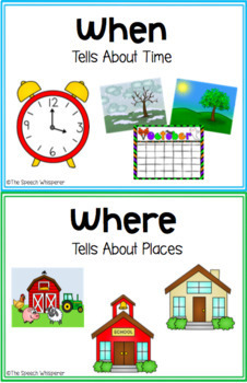 When and Where Questions