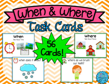 When & Where Question Cards