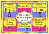 'When do I Use Capital Letters?' Poster Freebie
