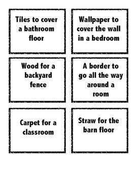 When do you use perimeter or area?