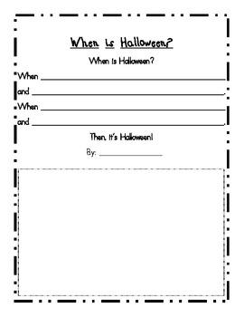 When is Halloween? --Descriptive Writing Piece