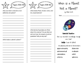 When is a Planet Not a Planet Trifold Wonders 5th Grade Unit 5 Weeks 1-2 (2020)