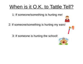 When is it ok to tattle?