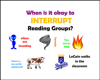 When is it okay to Interupt Reading Groups? (editable)