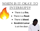 When is it okay to interrupt?