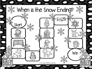 When is the Snow Ending?:  NO PREP Winter Themed Ending Sounds Board Game