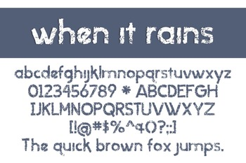 When it Rains Font for Commercial Use