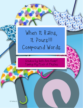 When it Rains, it Pours! Compound Word Concentration Game ~ Freebie
