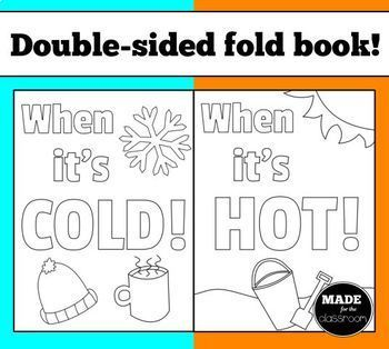 When it's hot/cold folding book - Writing activity
