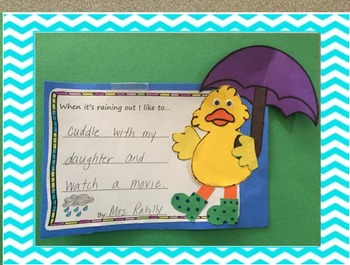 When it's raining out I like to.... duck craft for spring
