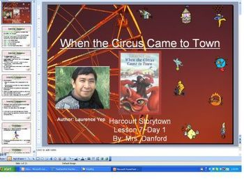 When the Circus Came to Town Harcourt Storytown Day 2 PowerPoint