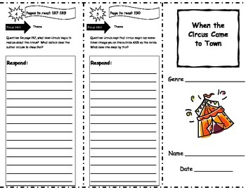 When the Circus Came to Town Storytown Comprehension Trifold