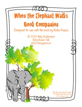 When the Elephant Walks {Book Companion + Speech & Language Activities}