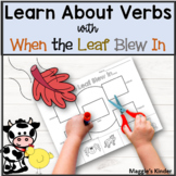 When the Leaf Blew In Anchor Chart to Learn about Verbs