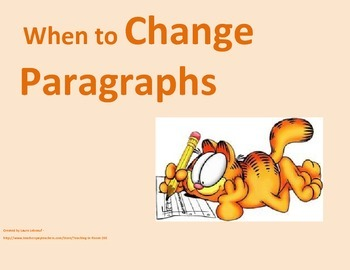 When to Change Paragraphs Poster Set
