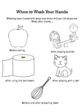 When to Wash Your Hands-coloring sheet