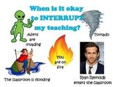 When to interrupt my Teaching?