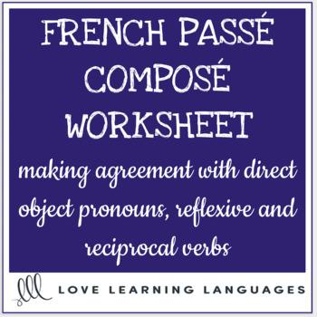 French Direct Objects - Agreement in Passé Composé - Complément d'Object Direct
